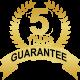 5 years guarantee